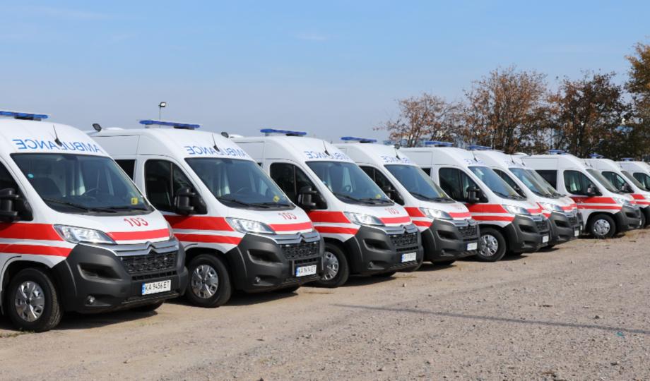 На Київщини медики отримали 48 автівок екстреної медичної допомоги